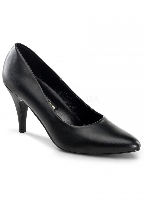 Pleaser Chaussures Escarpins noir grande Taille 41 au 44 - Talon 7 cm