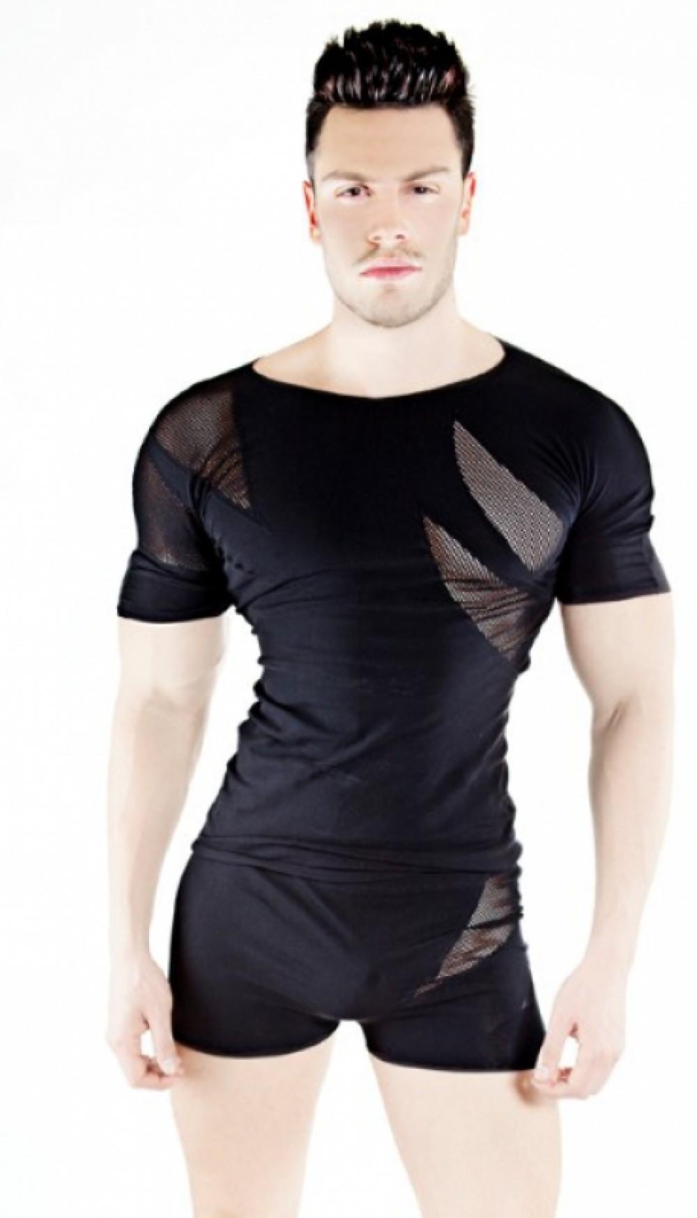 PatriceCatanzaro Tee shirt homme Luxor noir
