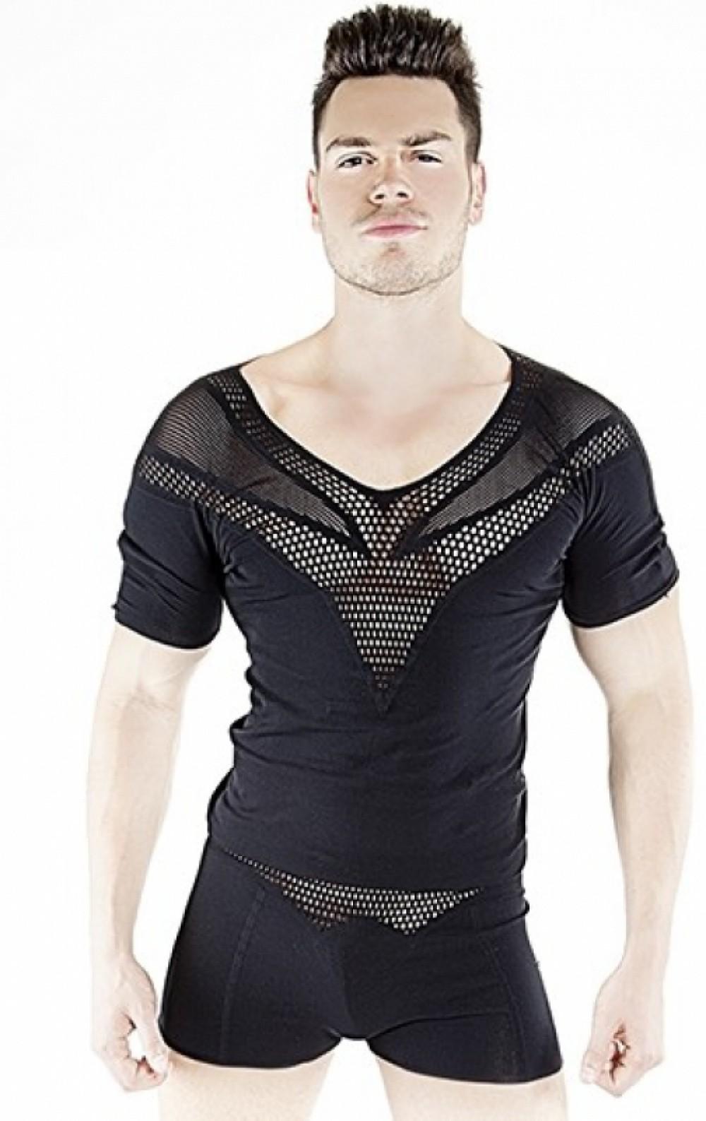 PatriceCatanzaro Tee shirt homme Excalibur noir