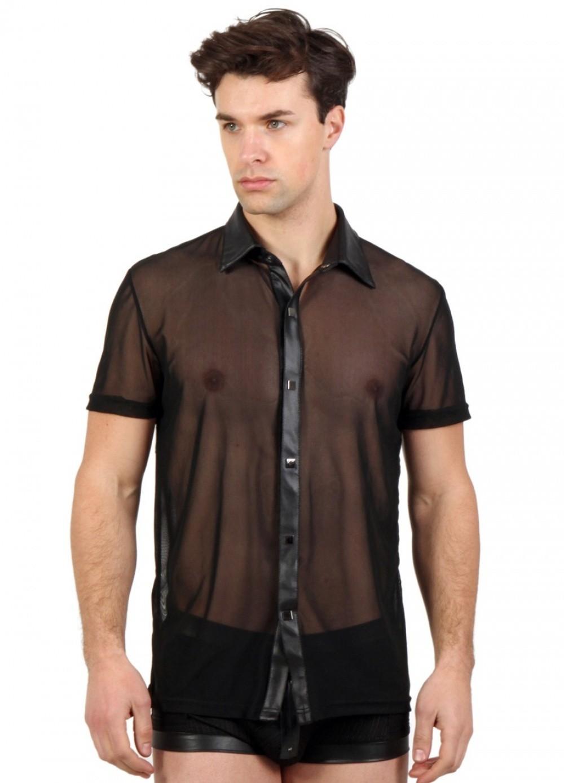 Chemisette transparente pour homme tenue pour soirée libertine