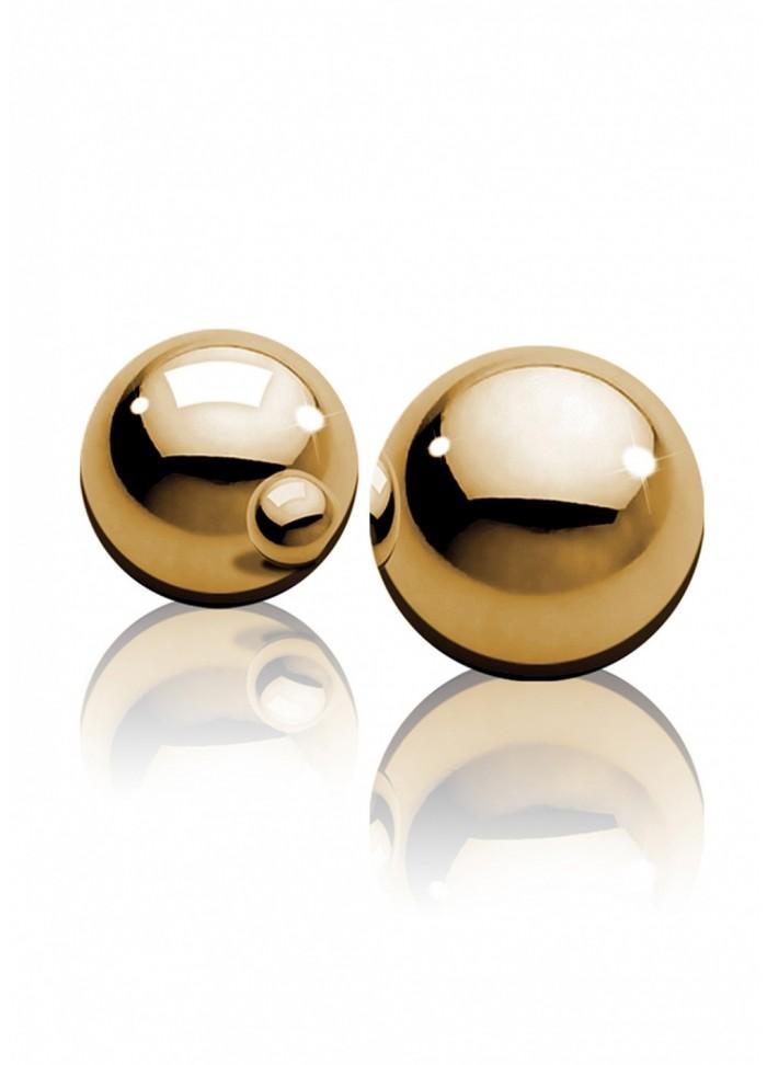 Boules geisha BenWa métal Gold Balls or