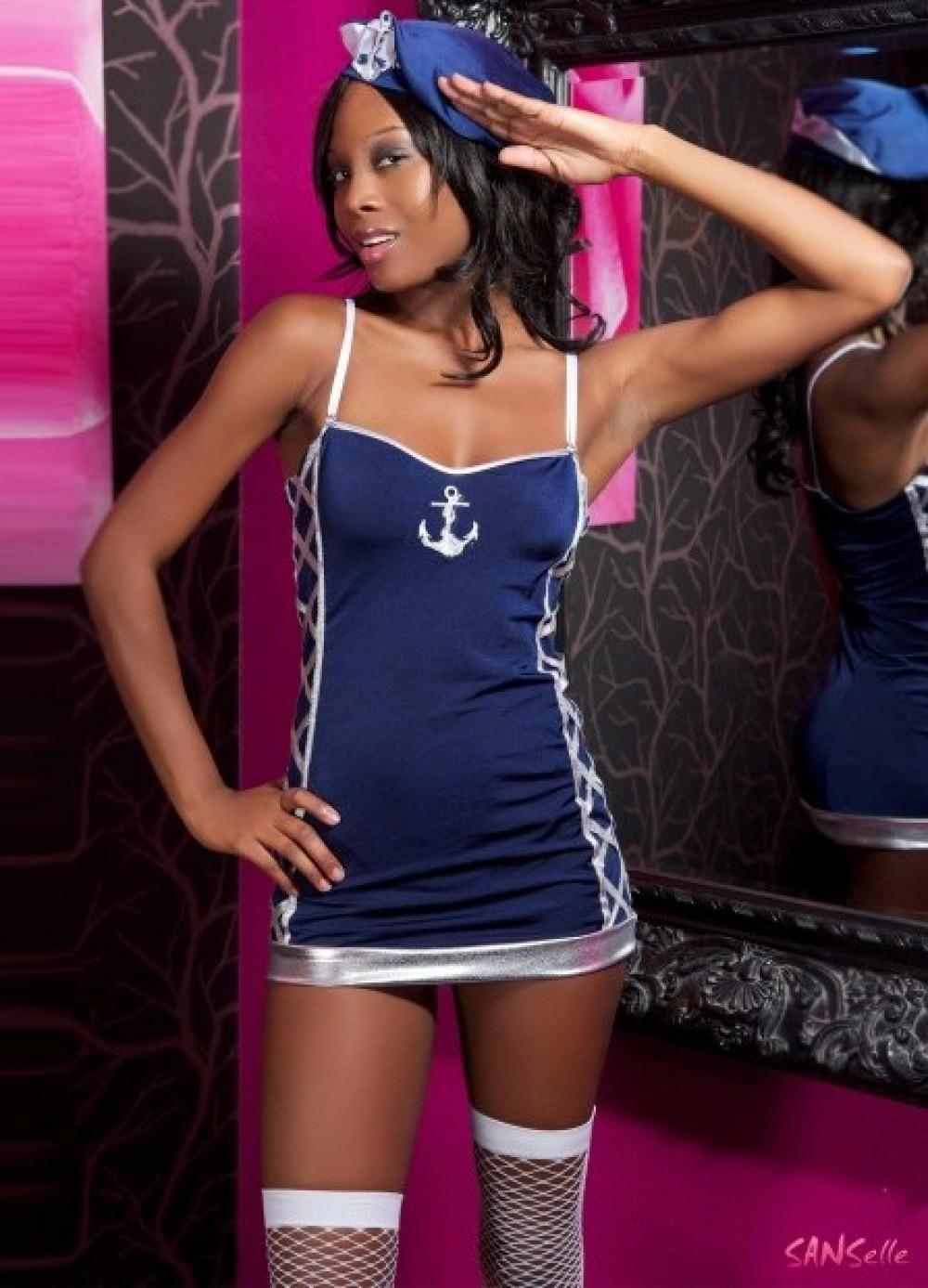 Tenue uniforme femme déguisement de la Marine - Navy