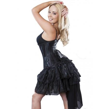 Burleska Bustle Sur jupe dentelle noir