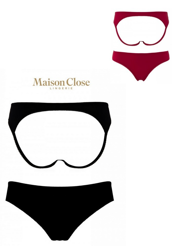 Maison Close Shorty Cul Nu rouge-noir