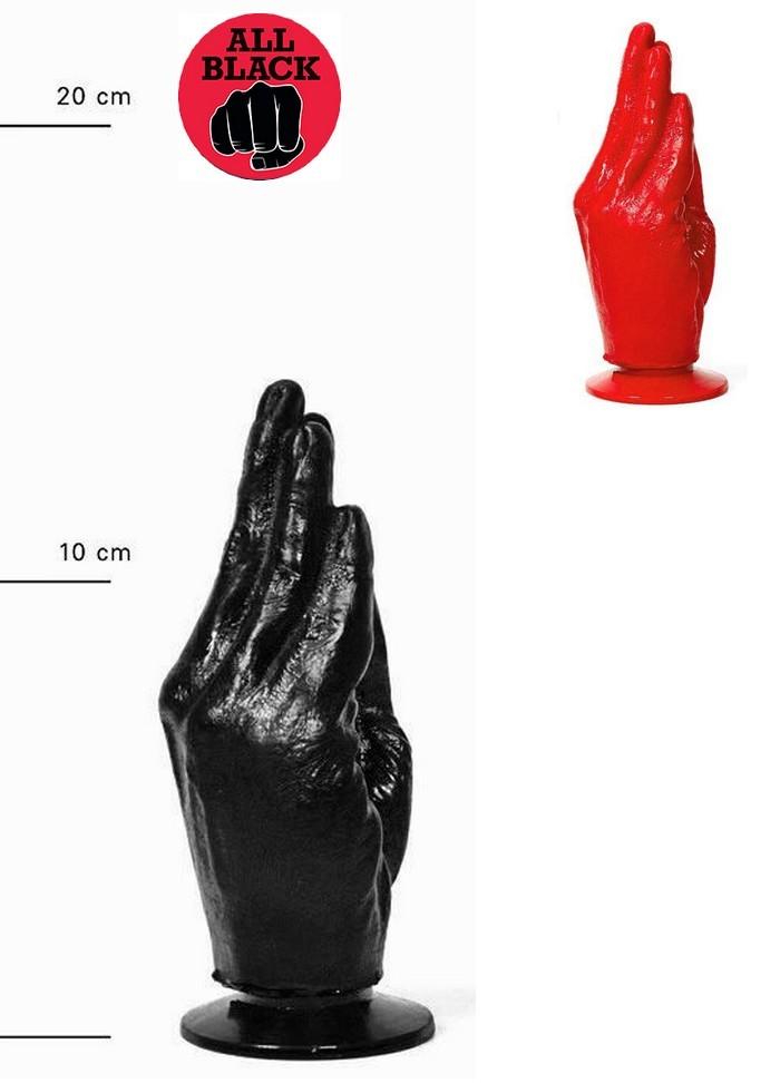 AllBlack-Plug anal main fist AB13 Otto gode noir-rouge
