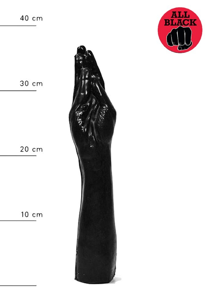 AllBlack-Gode Bras Fist noir 37 cm Ø 70 mm sophie libertine